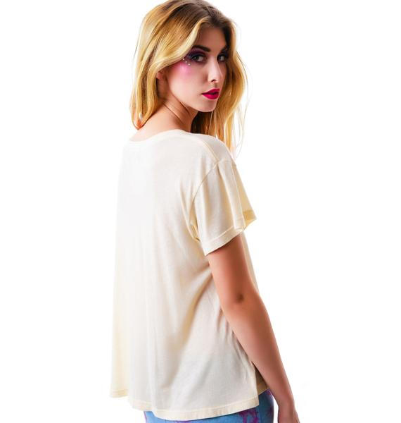 Wildfox Couture Champagne Unicorn Dream Lazy Weekend Tee