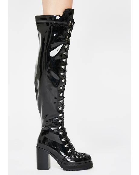 Isabella Patent Boots