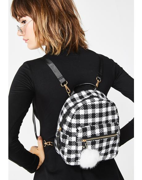 Pretty Sources Plaid Backpack