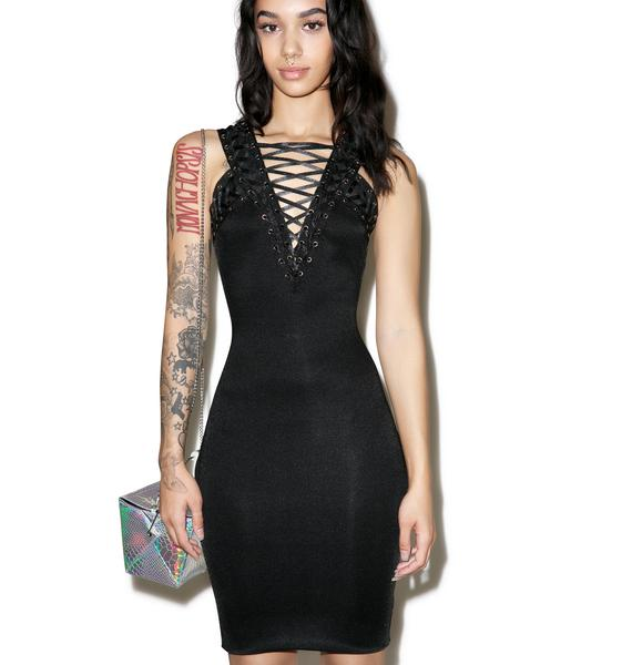 Vengeance Lace Up Dress