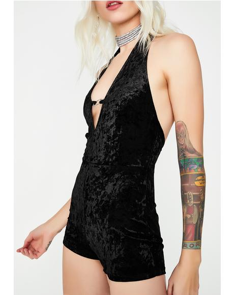 Get It On Velvet Romper