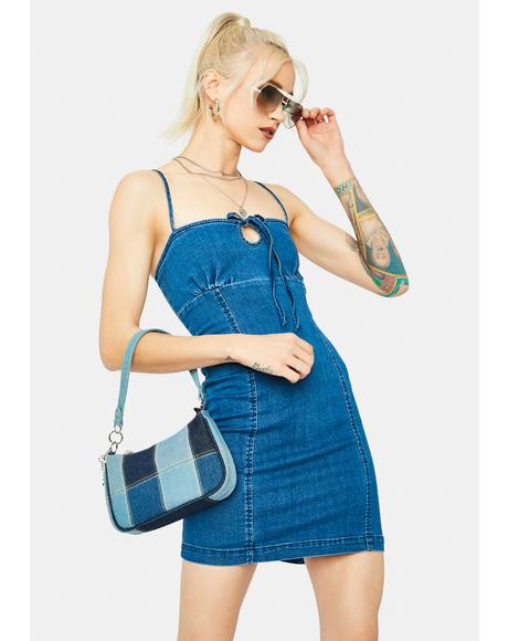 Going Swimmingly Bodycon Denim Mini Dress
