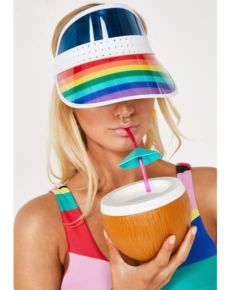 Poolside Dream Rainbow Visor
