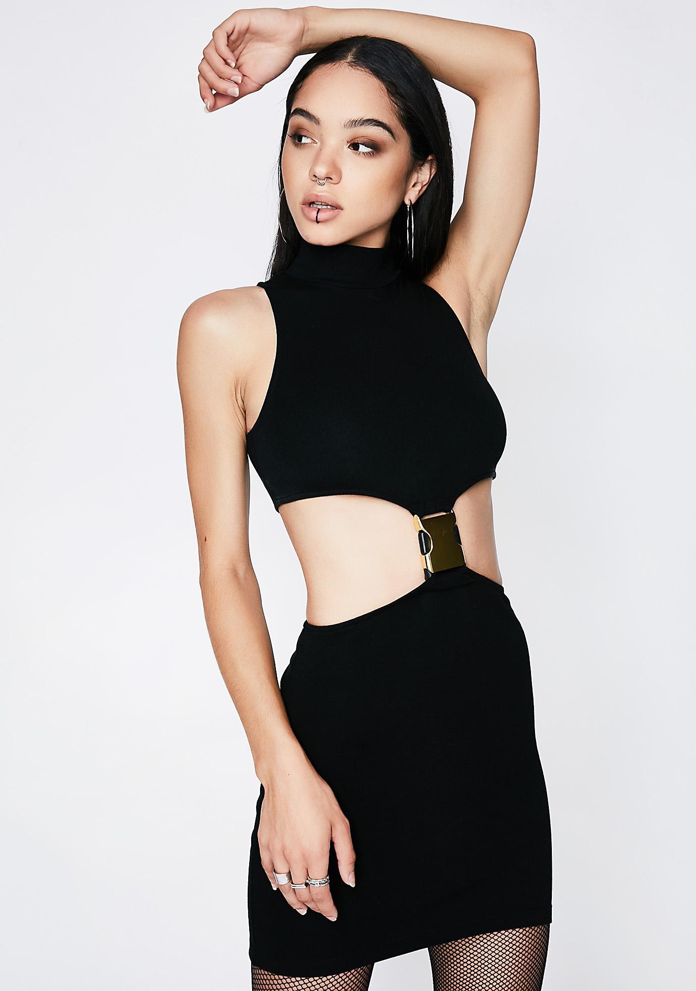 Poster Grl Safety Firzt Cutout Dress