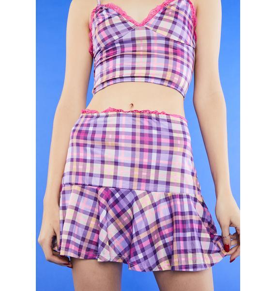 dELiA*s by Dolls Kill Something Sweet Mini Skirt