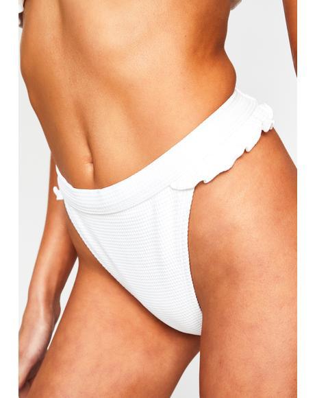 White Horizon Bikini Bottoms