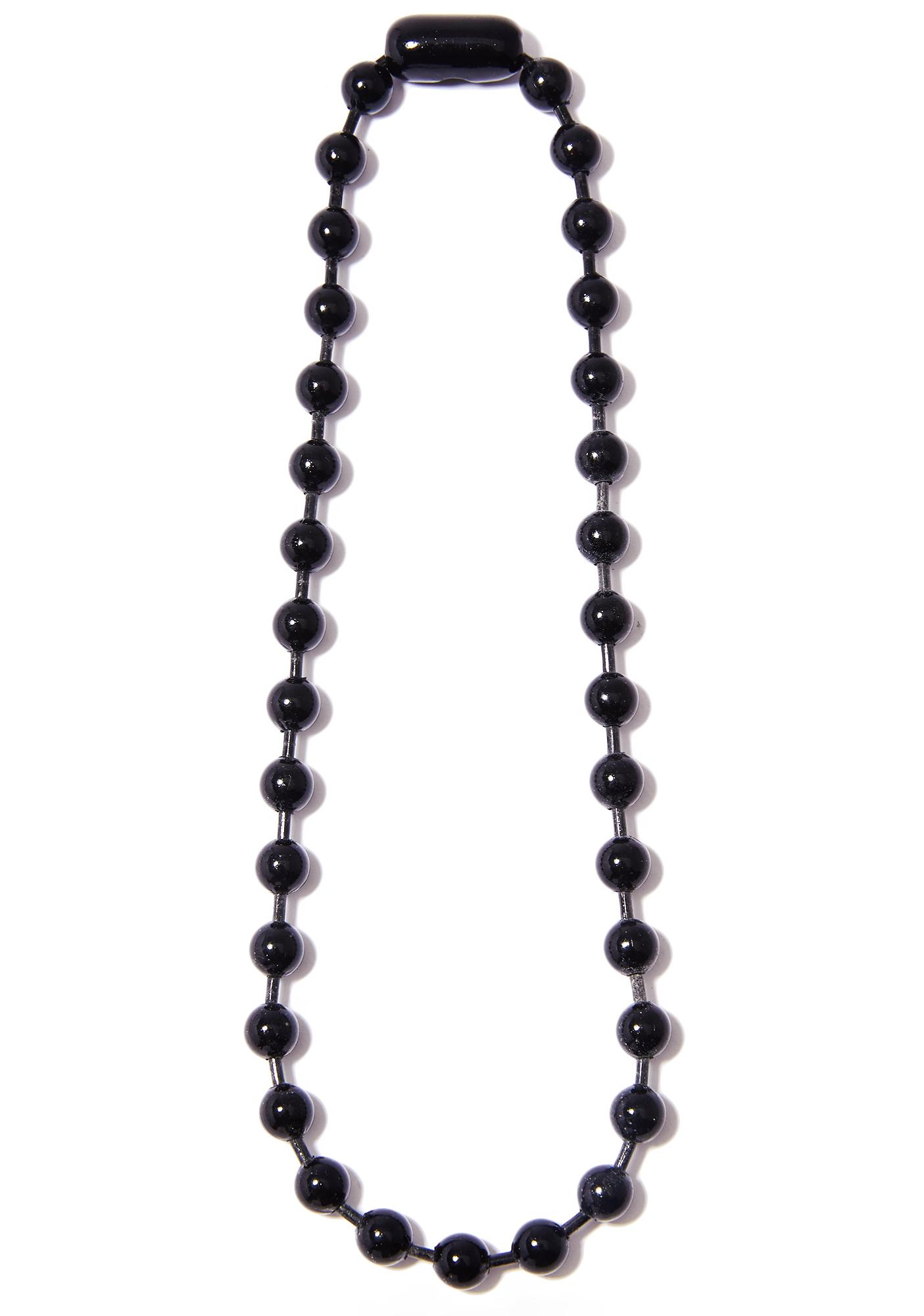 Midnight Fat Tuesday Ball Necklace