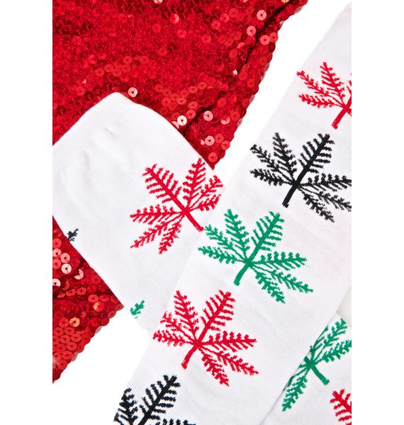 HUF Snowflake Knee High Socks