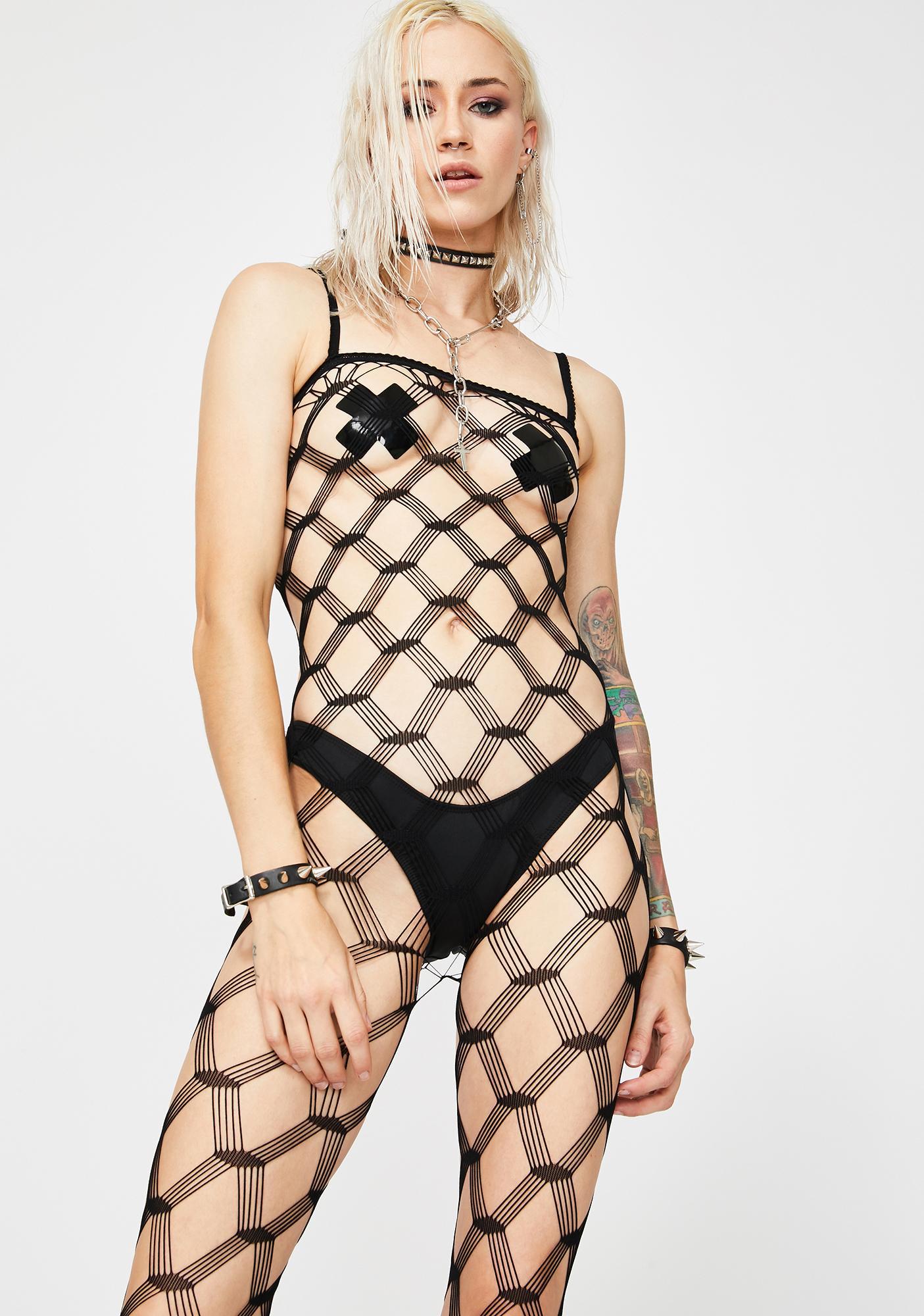 Total Illusion Fishnet Bodystocking