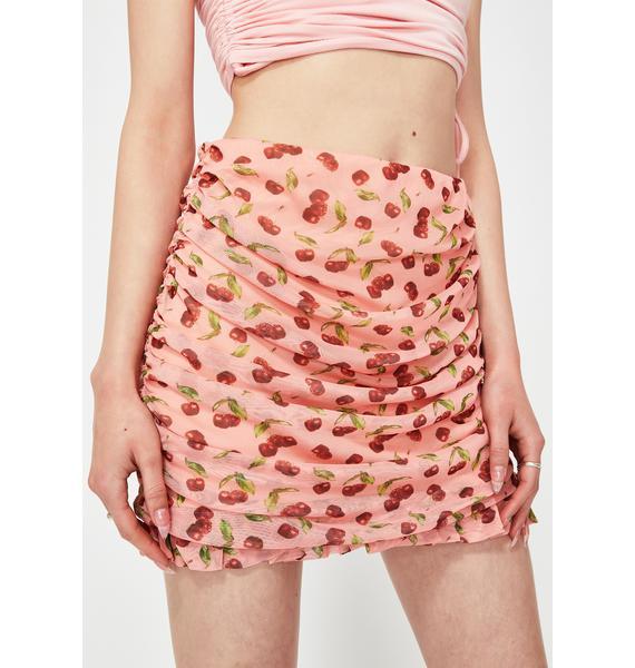 NEW GIRL ORDER Lolita Cherry Mini Skirt