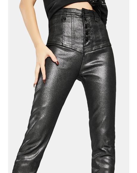 Platinum Christy Waisted Jeans
