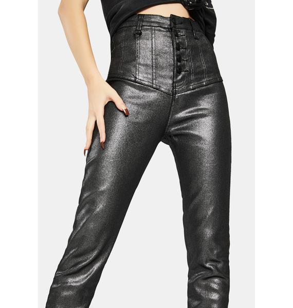 Neon Blonde Platinum Christy Waisted Jeans