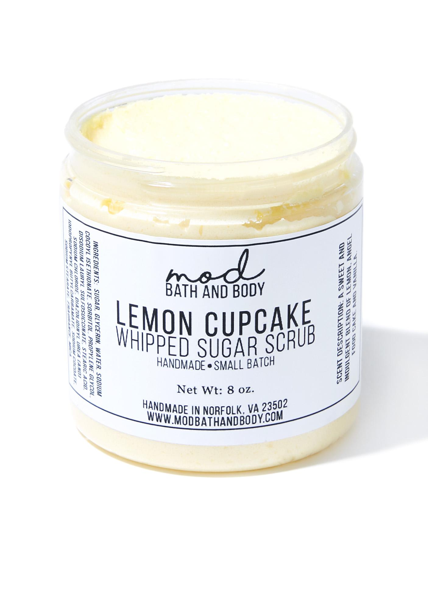 Mod Bath and Body Lemon Cupcake Whipped Sugar Scrub