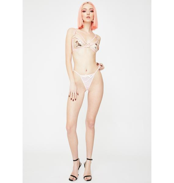 Regalia Pink Open Harness Bra