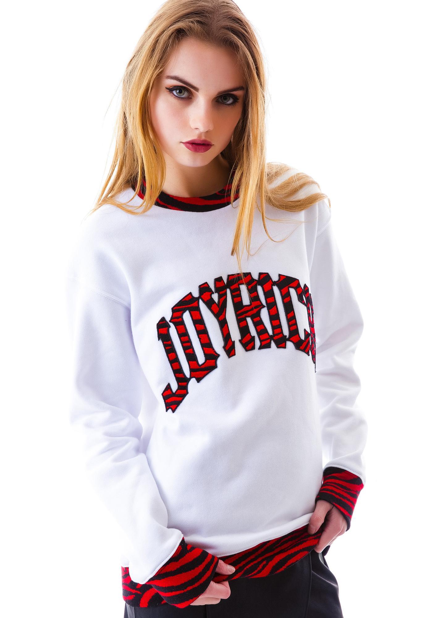 Joyrich Zebra Joyrich Logo Crew Sweatshirt