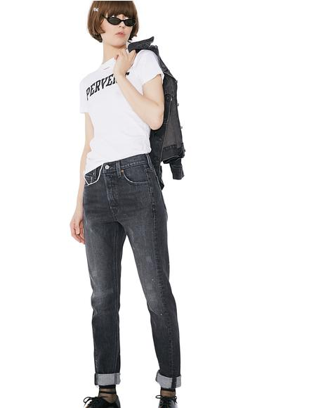 501 Skinny Altered Jeans