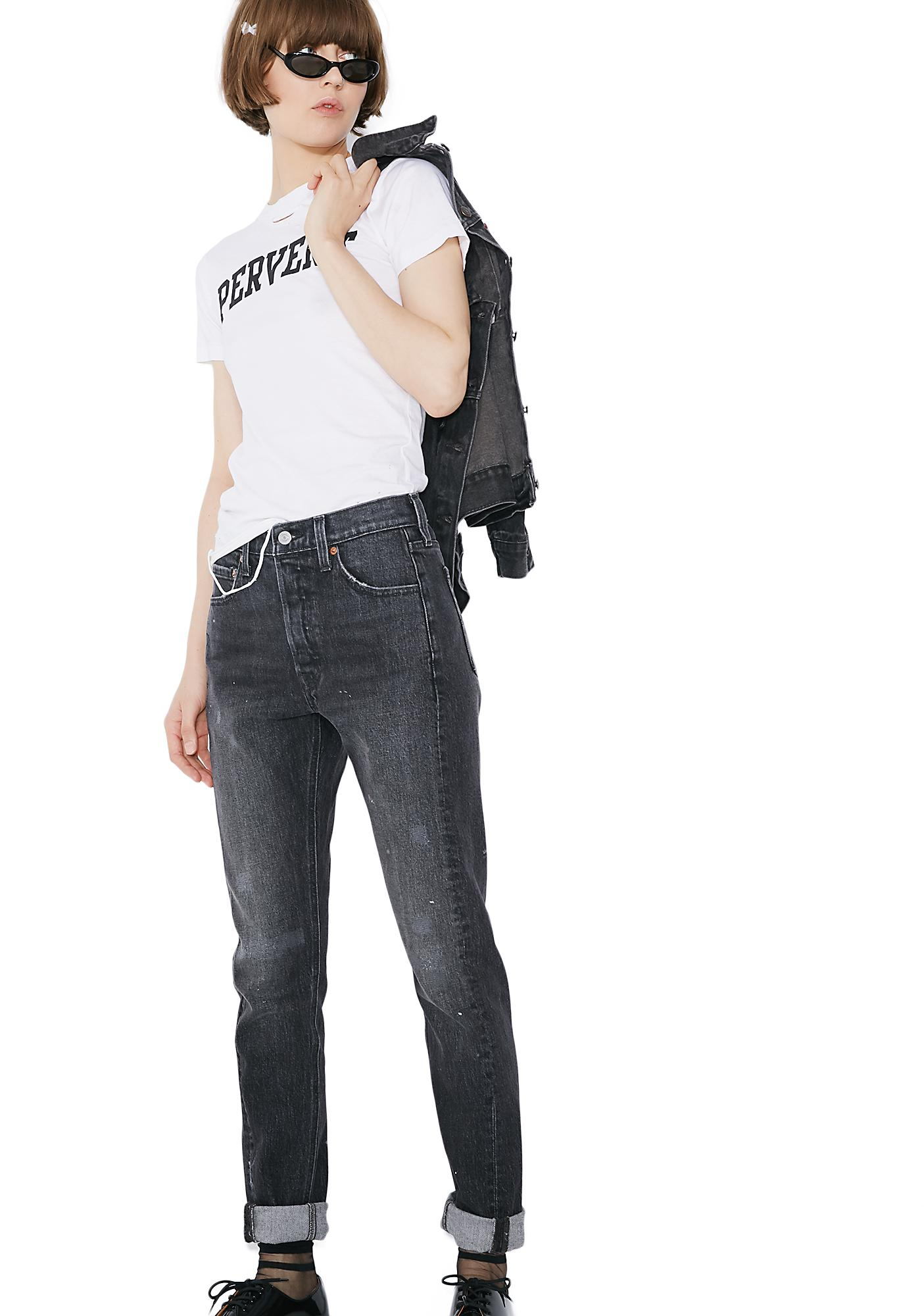 Levis 501 Skinny Altered Jeans