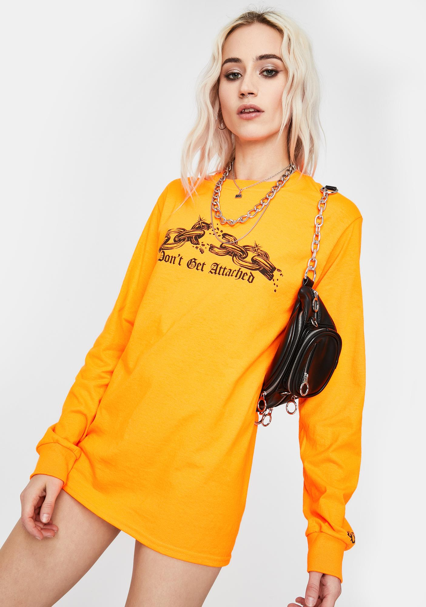 By Samii Ryan Orange Attachments Graphic Long Sleeve Tee