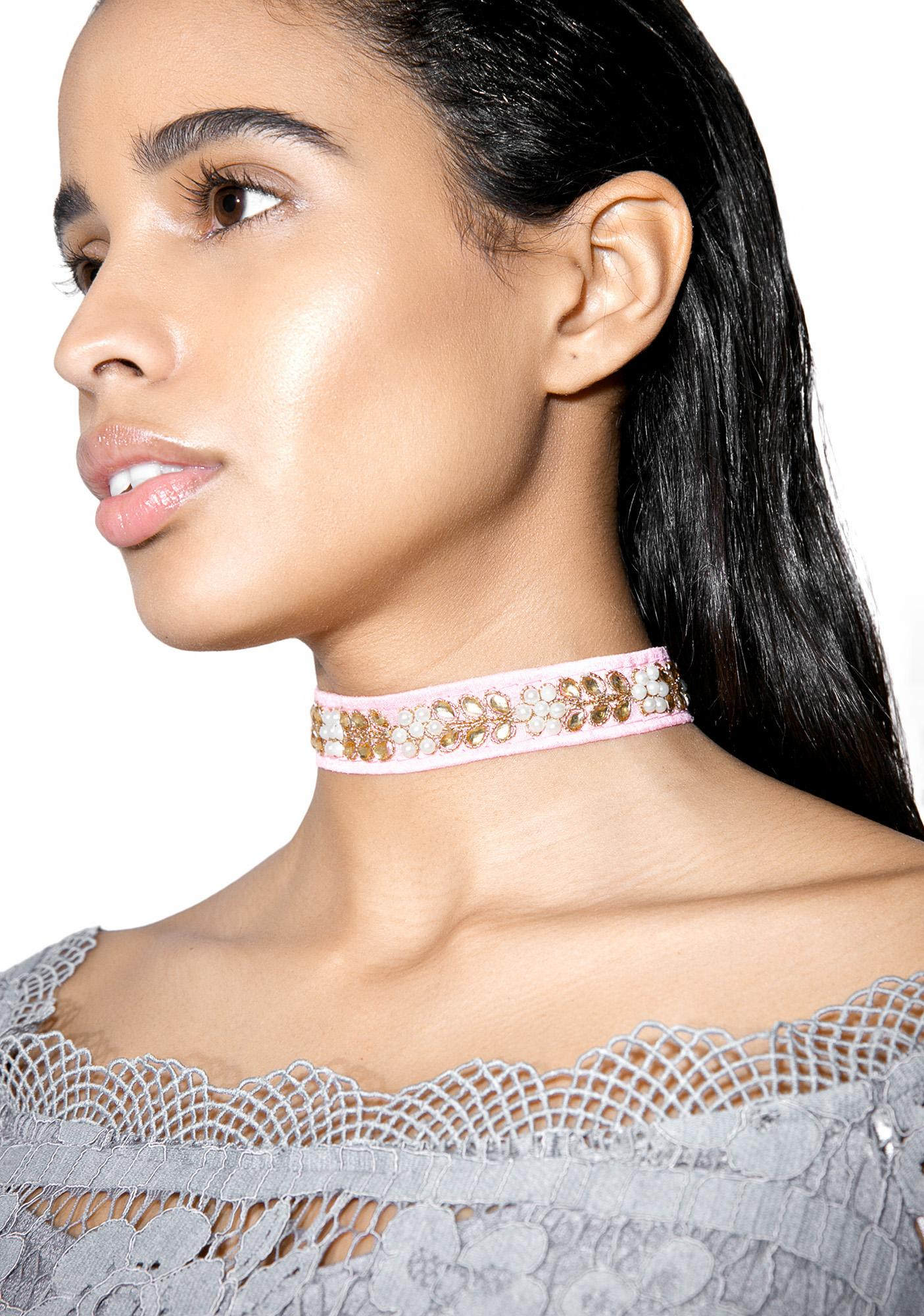 Rock n Rose Doris Pearl Jewel Choker