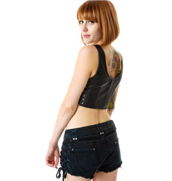 Magnetic Looks Side Lace Shorts