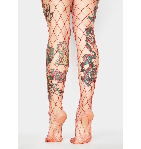 Demonic Diva Fishnet Tights