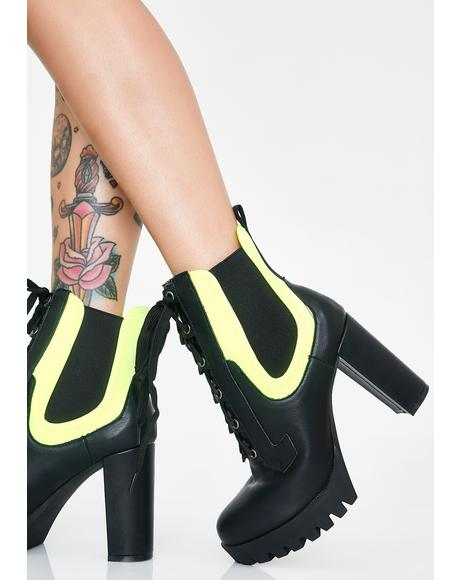 Glam Rider Lace-Up Booties