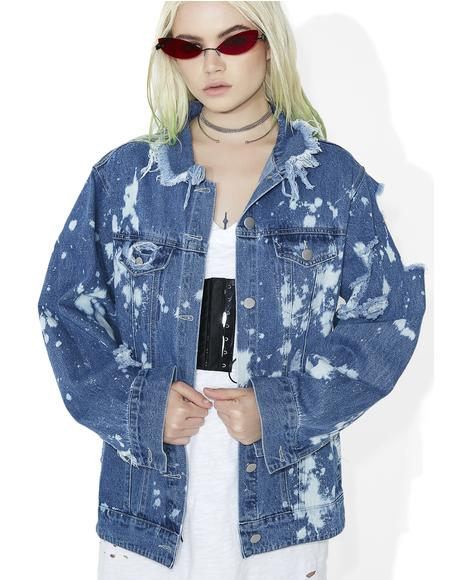 San Dimas Distressed Denim Jacket