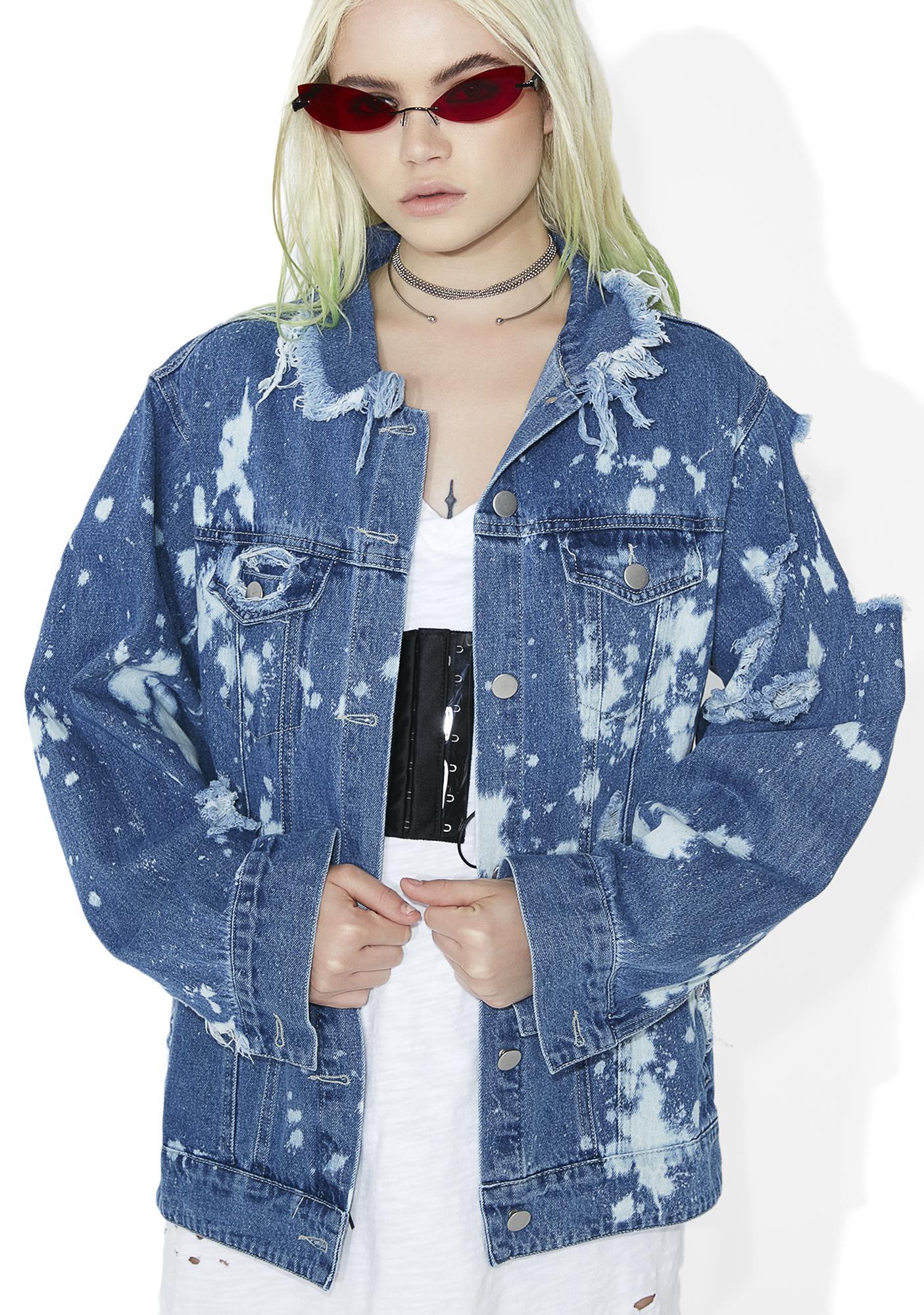 San Dimas Distressed Denim Jacket