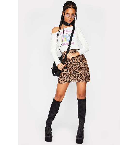 dELiA*s by Dolls Kill Kiss Me Right Meow Mini Skirt