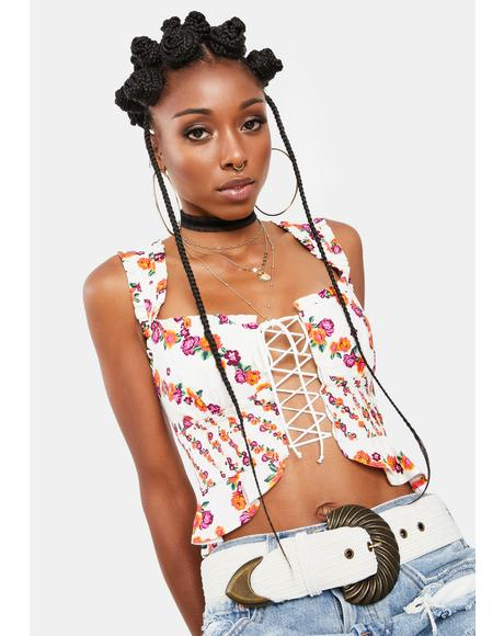 Georgia Lace Up Crop Top