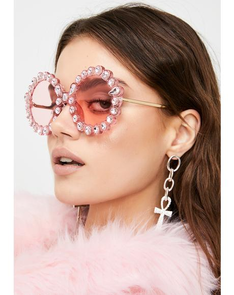 Baby Spinning Round Rhinestone Sunglasses