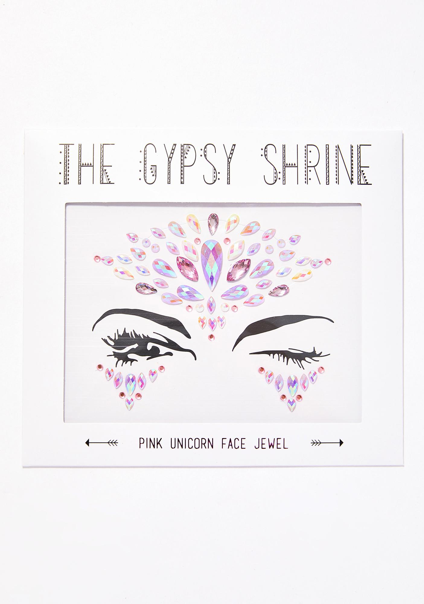 The Gypsy Shrine Pink Unicorn Face Jewels