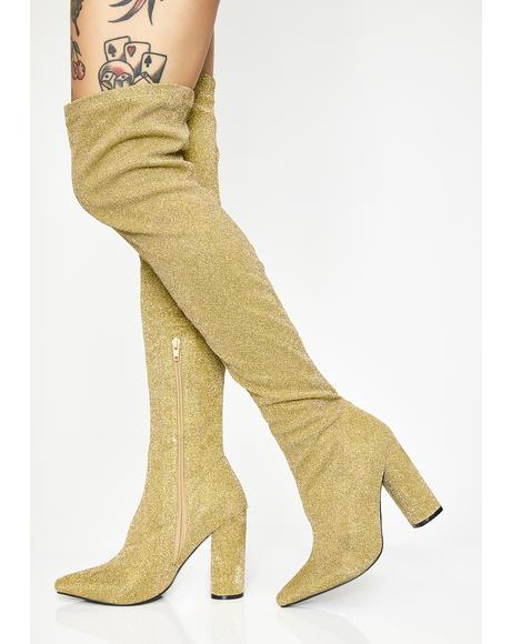 b269a5a1eeea Golden Glambition Thigh High Boots ...