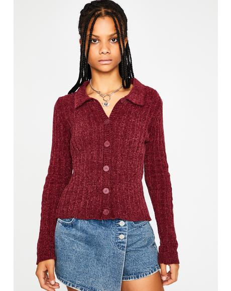 Take A Chill Pill Chenille Cardigan