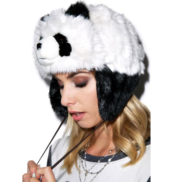 Sad Panda Faux Fur Hat