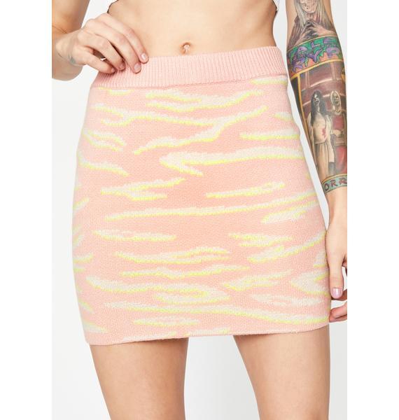 Wild Obsession Zebra Mini Skirt