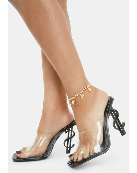 Monarch Madness Butterfly Charm Anklet