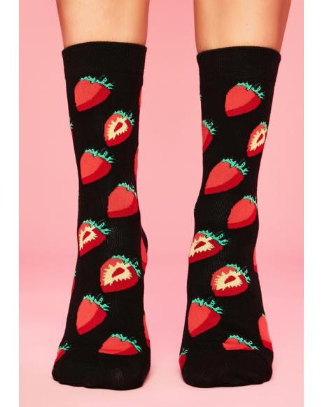 Strawberry Swing Crew Socks