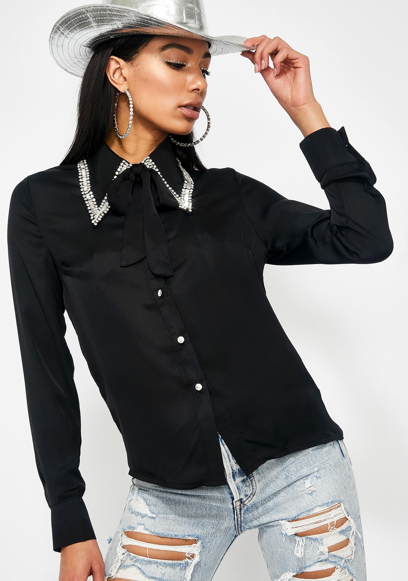 Western Addition Embellished Blouse