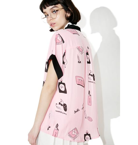 Lazy Oaf Bad Girl Satin Shirt