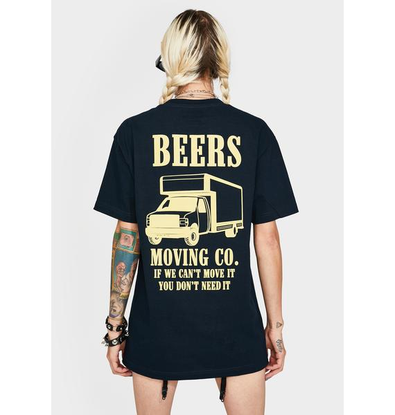 Beers Navy Moving Company Graphic Tee