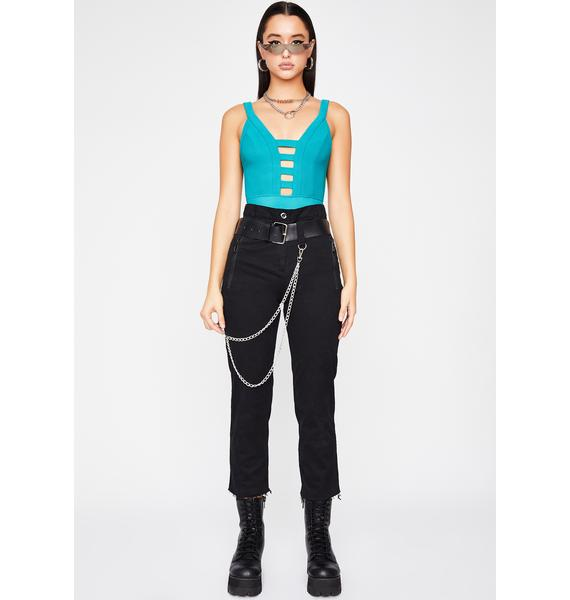 Aqua Callin' In Hot Knit Bodysuit