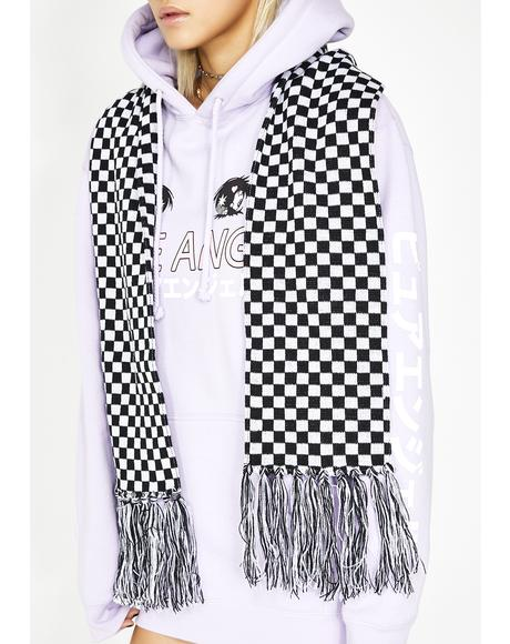 Fast Lane Checkered Scarf