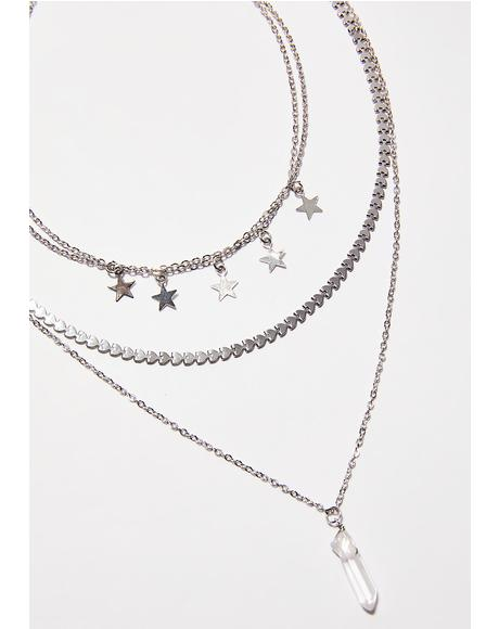 Love Starship Layered Necklace