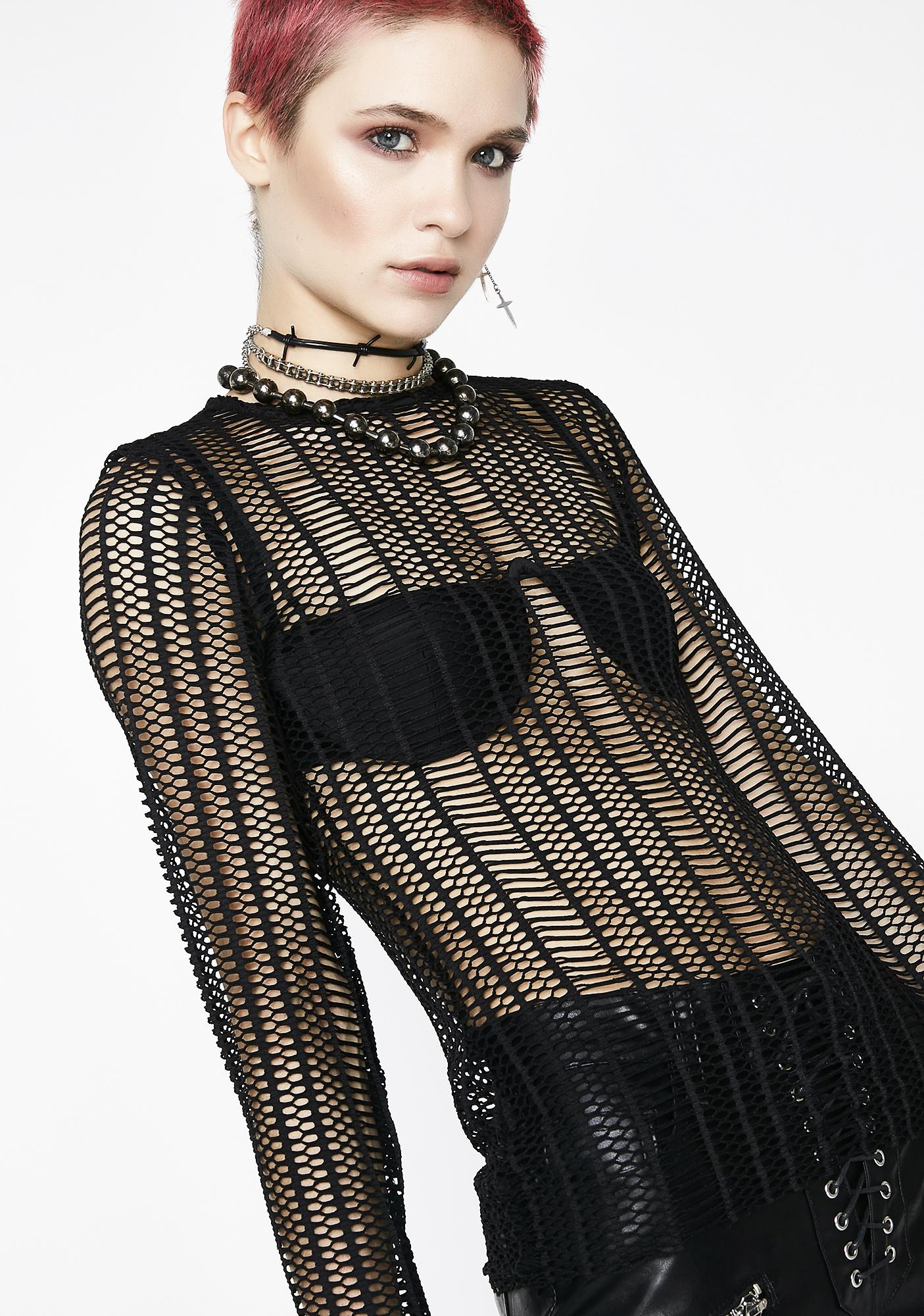 Kiki Riki Black Sheep Mesh Top