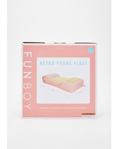 Retro Phone Pool Float