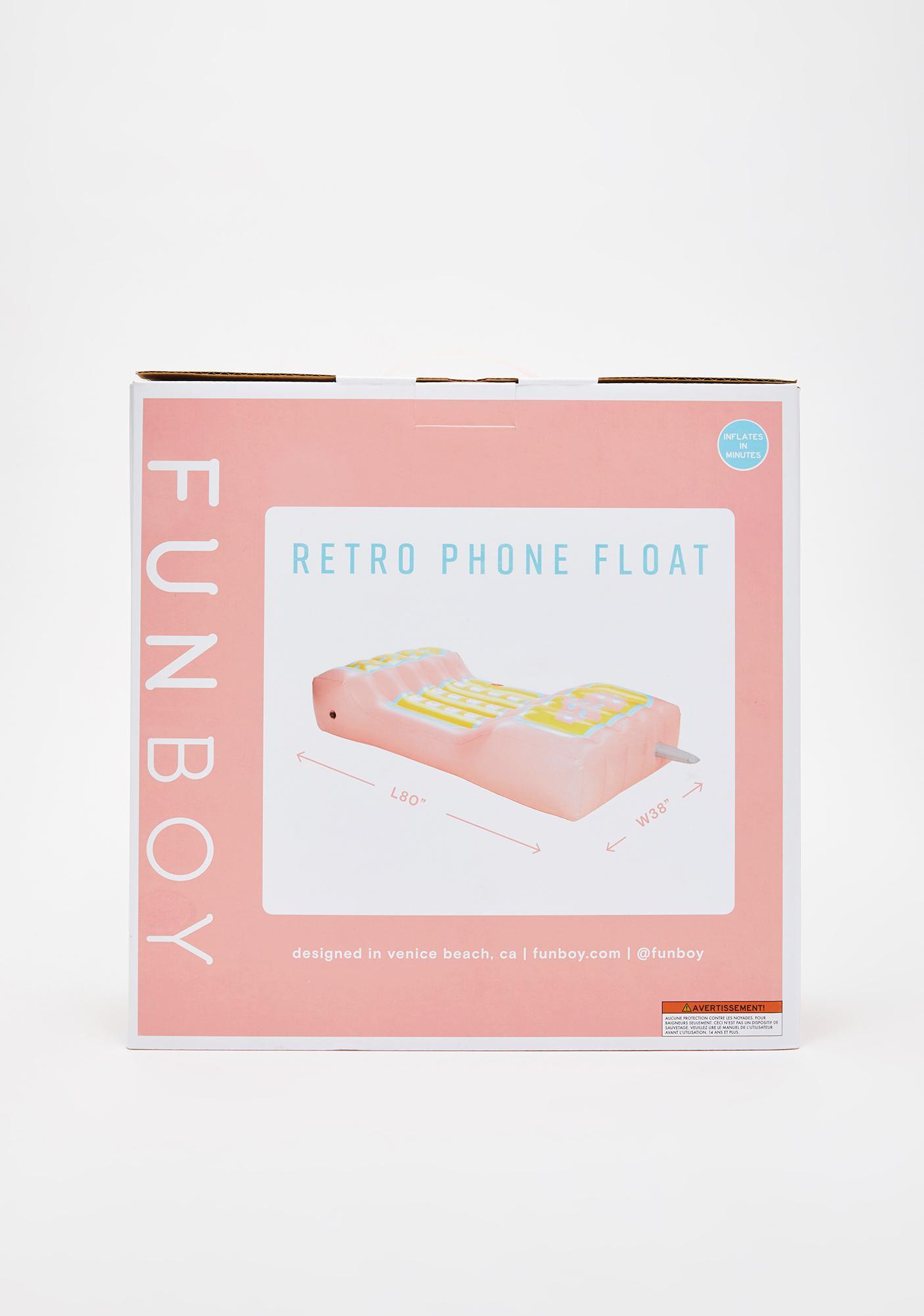 FUNBOY Retro Phone Pool Float