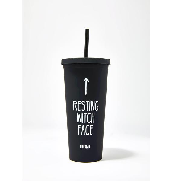 Killstar Resting Witch Face Cold Brew Cup