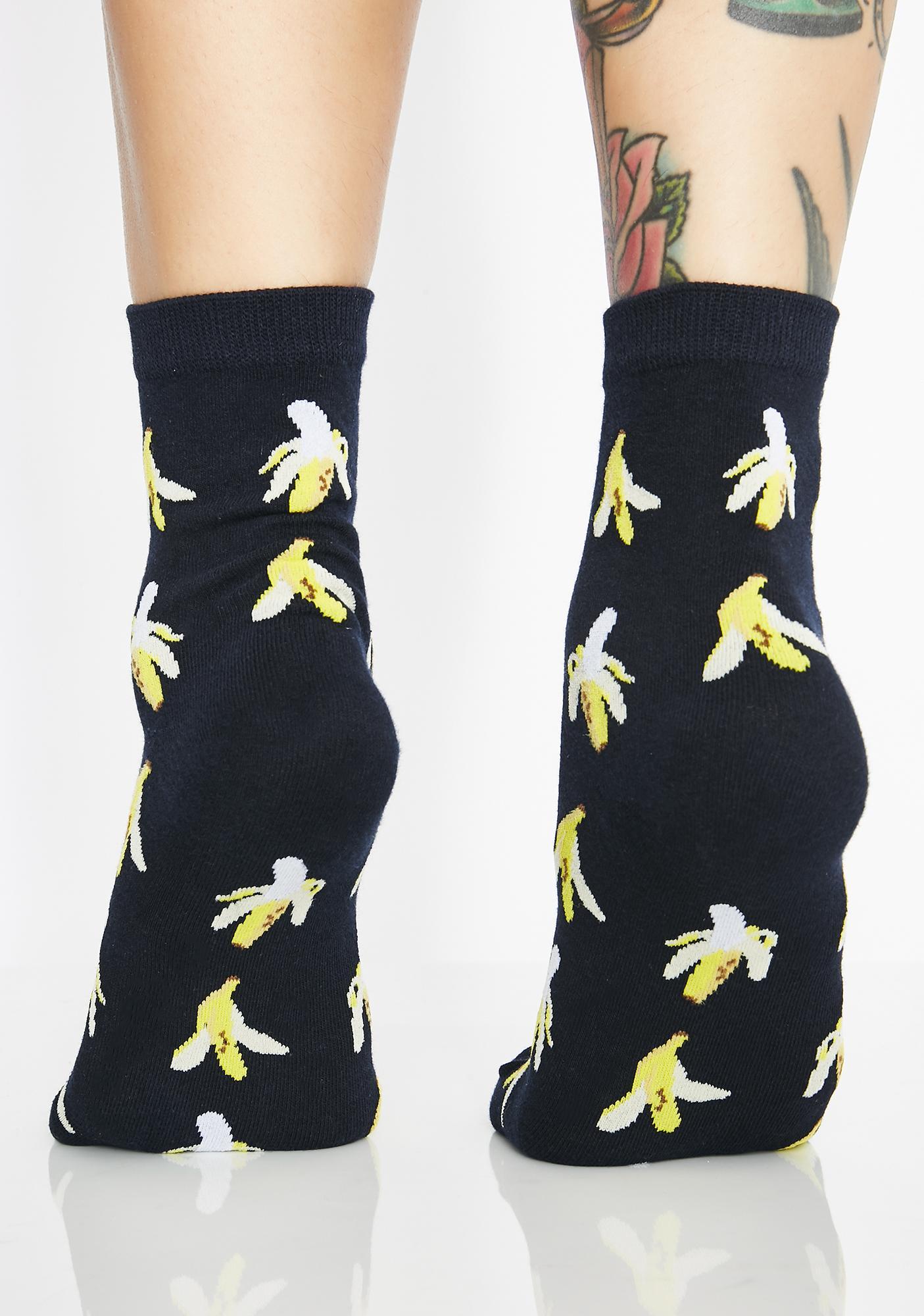 B-A-N-A-N-A-S Knit Socks