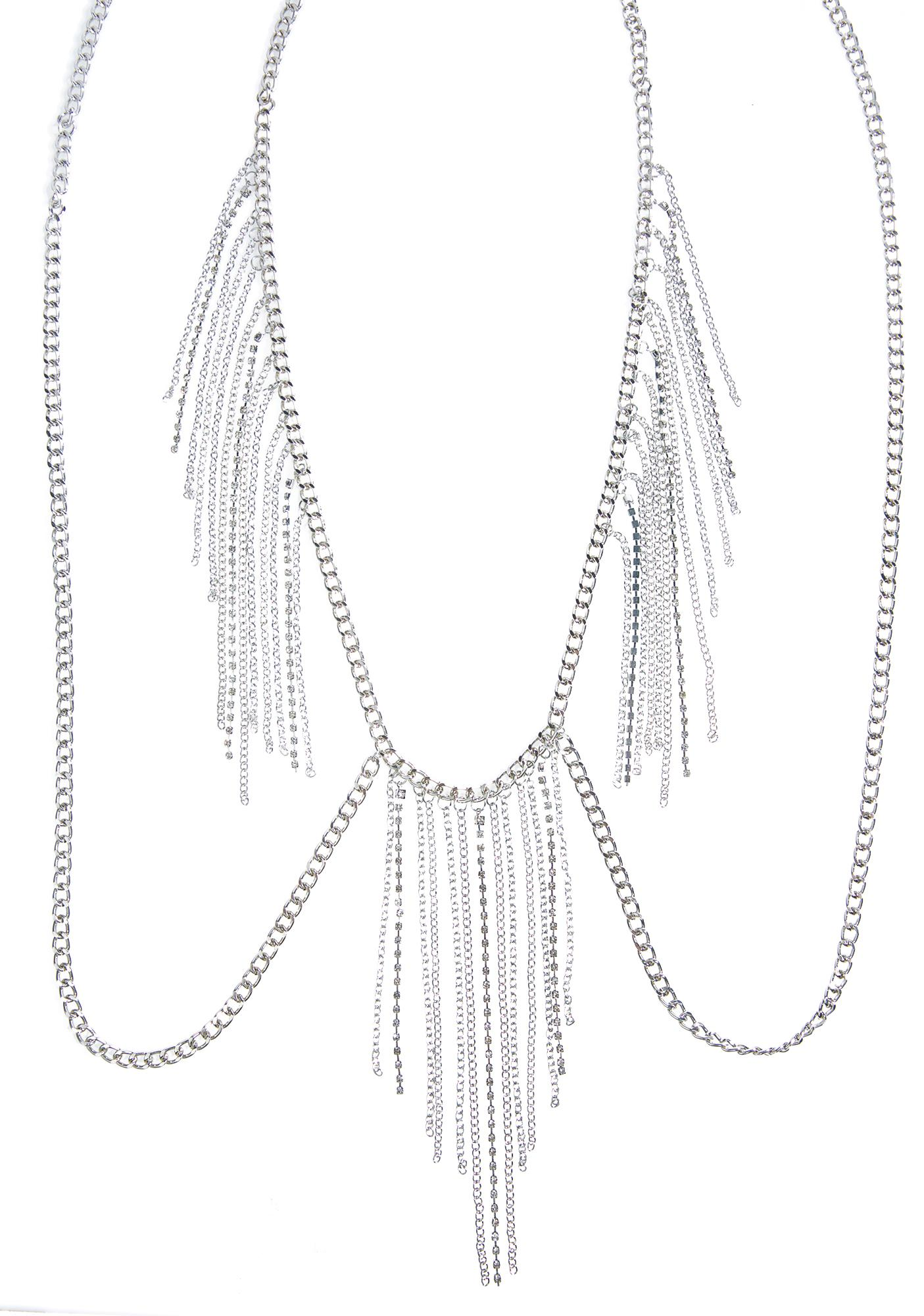 Avery Rhinestone Body Chain